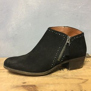 Lucky Black Leather Bootie 9.5 Benna Ankle Shoe